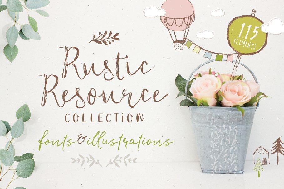 Rustic Resource Collection volume 1 ~ Script Fonts ~ Creative Market