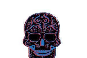 3D skull icon