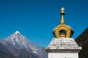 Buddhist stupa in the Himalayas