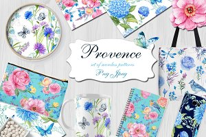 Provence. watercolor patterns