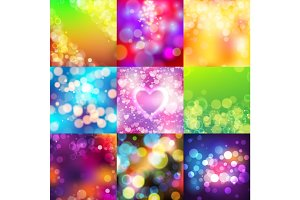 Bokeh abstract blur texture colorful background ornament vector illustration.