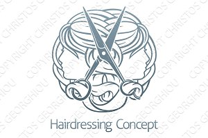 Stylist Hair Salon Hairdresser Icon