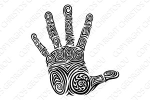 Hand Abstract Pattern Concept Design