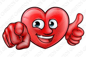Heart Cartoon Character