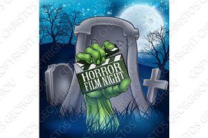 Horror Movie Film Zombie or Monster Sign