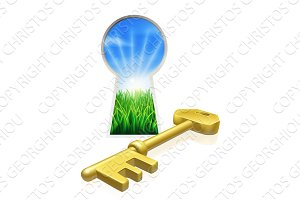 Key to freedom concept