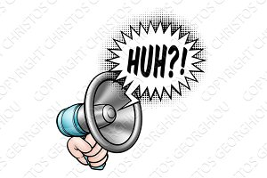 Cartoon Bullhorn Speech Bubble