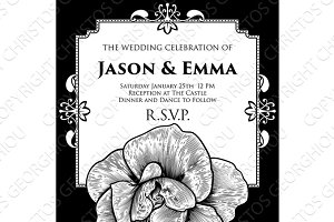 Rose Wedding Invite Invitation Template