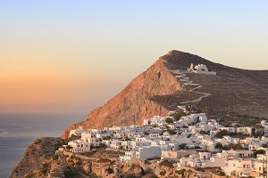 Folegandros at sunset.