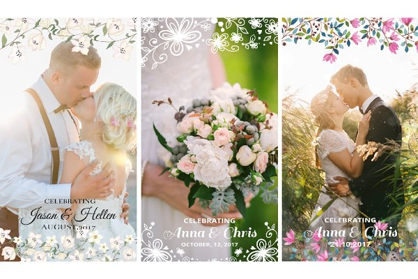 Snapchat Templates: CreativeToons - 9 Wedding Snapchat Geofilters