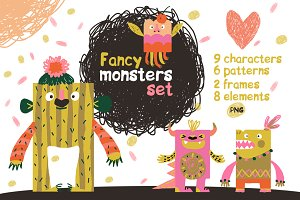 Cute And Fancy Monsters Collection