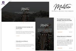 Malistica - HTML Personal Blog