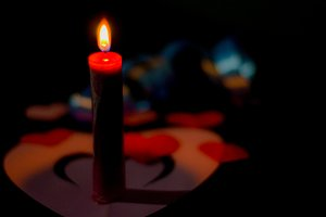 romaticism in candlelight
