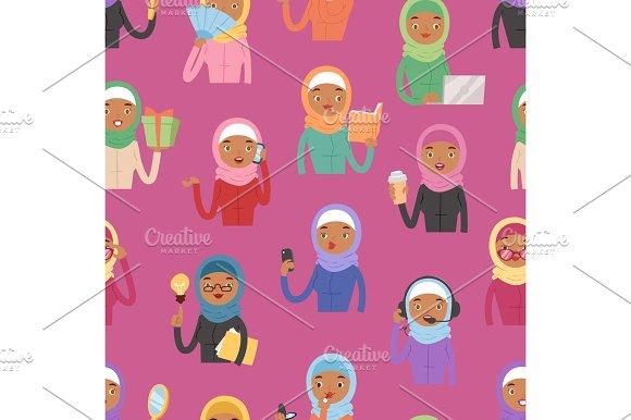 Gambar Hijab Kartun Vektor Polarviewnet