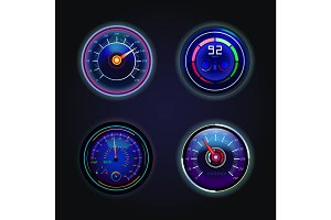 Isolated speedometers or gauges for speed