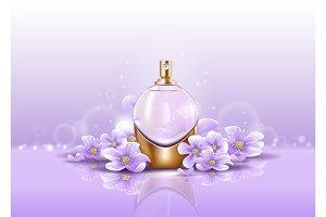 Sprayer or perfume glassware bottle for aroma