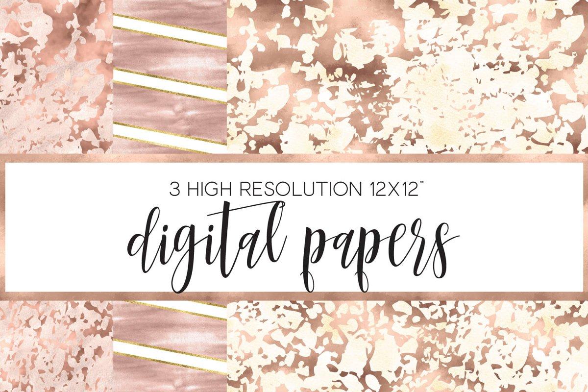 mercury glass digital papers