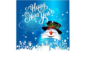 Snowman, Happy New Year