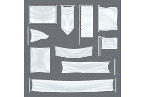 Empty or blank fabric template on transparent