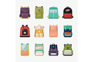 Children or kids school bags or rucksacks
