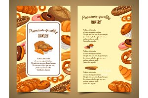 Banner with bakery food or pastry banner