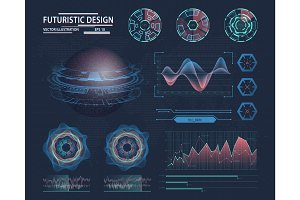 Infographic in futuristic design. Science theme