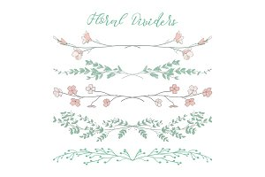 Vector Floral Dividers