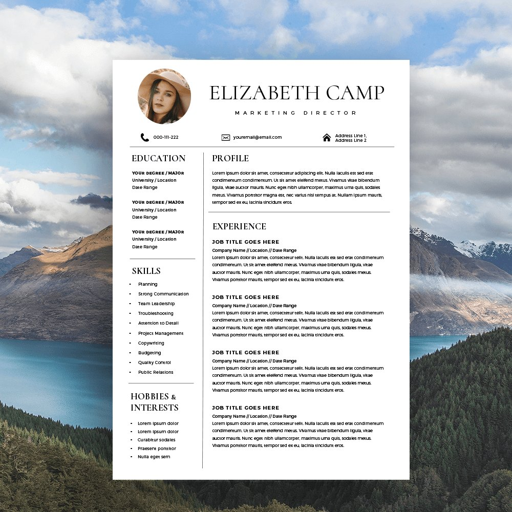 Buy headshots with resume