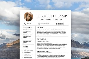 Resume Template with Headshot Photo