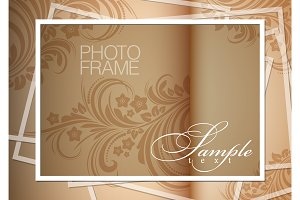 Light gold background photoframe