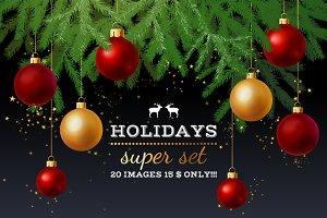 Holidays super set - 20 images