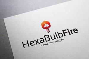Hexa Bulb Fire Logo