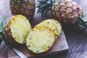 Piece of pineapple fruit