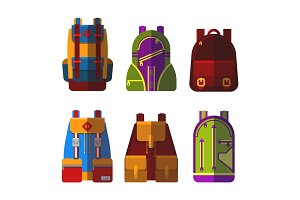 Isolated bag or rucksack, satchel or handbag