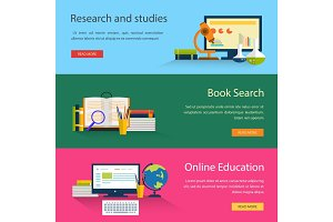 Electronic book search and online education, study