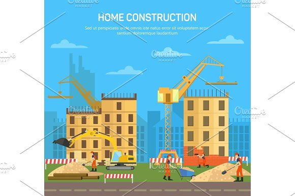 House or skyscraper,building or house construction