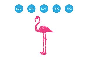 Pink Flamingo SVG Cutting File