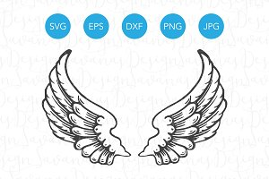 Angel Wings SVG Cutting Files