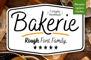 Bakerie Rough Font Family-75% Off