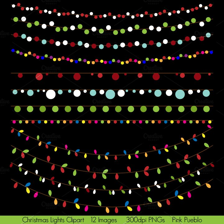 holiday light vectors and clipart illustrations creative market
