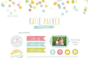 Colorful Blog Kit - blog elements