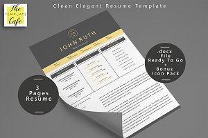 Clean Elegant MS Word Resume