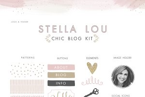 Chic Blog Kit - Web Elements