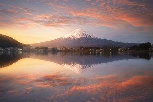 Fuji mountain in morning