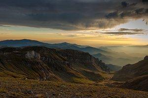 Colorful  sunset landscape