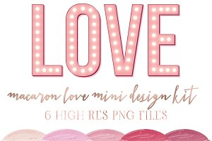 Macaron Love mini design kit