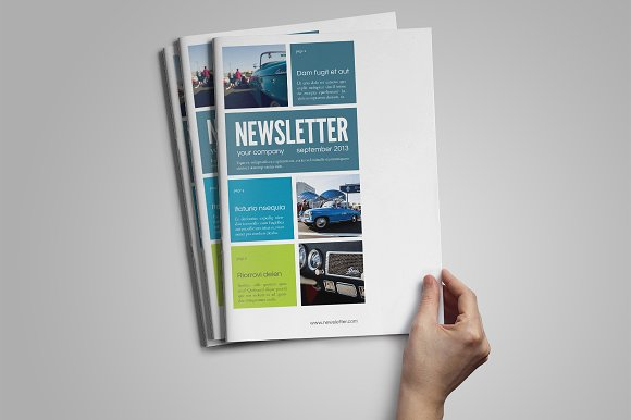 InDesign Newsletter Template Magazine Templates on Creative Market – Indesign Newsletter