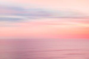 Defocused sunrise sky and ocean
