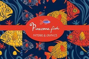 Pinecone fish Patterns and graphics