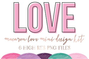 Macaron Love mini design kit Vol 2